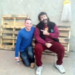 Richard Gray and Mick Foley